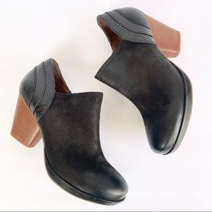 Dankso Chunky Heel Leather Ankle Boots